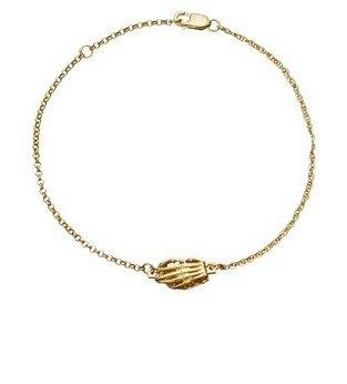 Jen Kao Gold Skelly Hand Clasp Bracelet