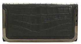 Botkier Misha Clutch, Black Croc 1 ea