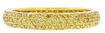 Sethi Couture Pave Yellow Diamond Band - Yellow Gold