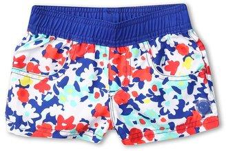 Roxy Kids - Blooming Bliss Sun Shore Boardshort (Toddler/Little Kids) (Sea Salt) - Apparel