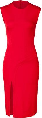 Hakaan Scarlet Red Sleeveless Sheath Dress