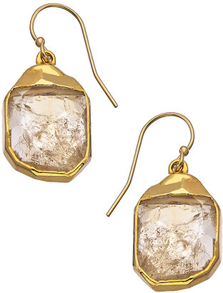 Janna Conner Designs Gold and Citrine Nugget Teardrop Earrings