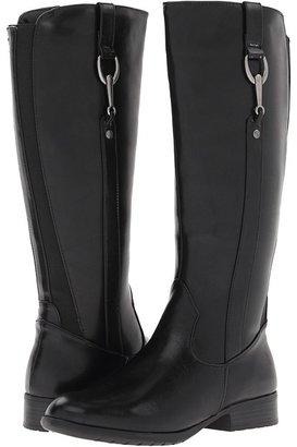 LifeStride X-Ibit #2 Wide Calf (Black Tyler/Stretch Gore) - Footwear
