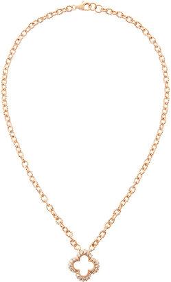 Freida Rothman Belargo Rose Gold Cubic Zirconia-Clover Pendant Necklace
