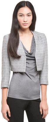 Anne Klein Spring Tweed Cropped Jacket