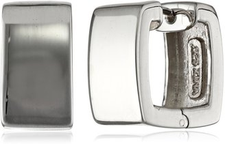 """Zina Sterling Silver """"Contemporary Collection"""" Square Snap Hoop Earrings"""