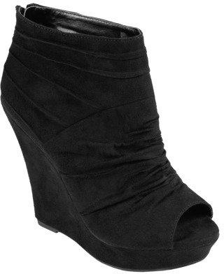 Hailey Jeans Co. Womens' Open Toe Wedge Bootie