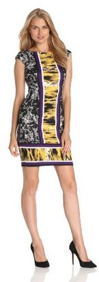 Maggy London Women's Printed Ponte Texture Dress