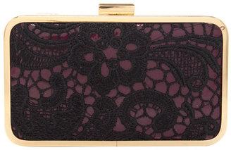 Oasis Lace Hard Case Clutch
