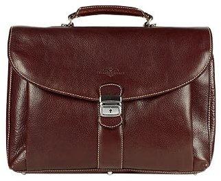 Robe Di Firenze Dark Brown Front Pocket Leather Briefcase