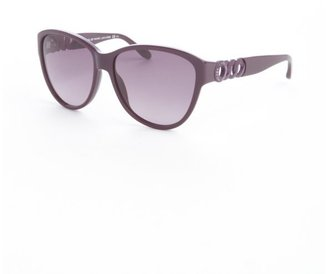 Marc by Marc Jacobs red acrylic oversized cat eye sunglasses