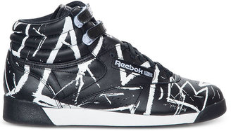 Reebok Women's Basquiat Freestyle Hi Athletic Casual Sneakers from Finish Line
