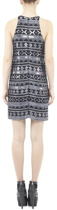 Nicole Miller Jessi Aztec Beaded Dress