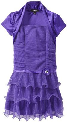 Amy Byer Girls 7-16 Shirred Wire-Hemmed Dress