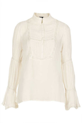 Topshop Frill collar lace blouse
