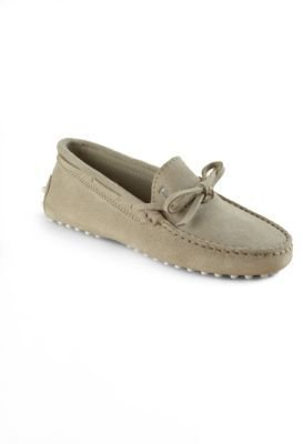 Tod's Boy's Gommini Suede Front Tie Mocassins