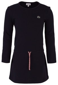 Lacoste Pique Dress with Striped Drawstring