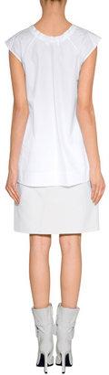 Jil Sander White Sleeveless Cotton Top