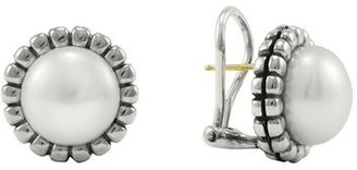 Women's Lagos 'Luna' Pearl Fluted Earrings $295 thestylecure.com