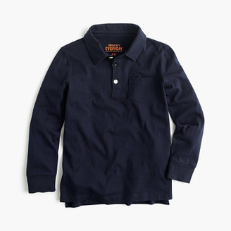 J.Crew Boys' long-sleeve jersey polo shirt