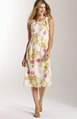 J. Jill Floral linen flared dress