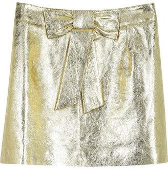 Rachel Gilbert Phoenix leather mini skirt