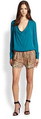 Haute Hippie Silk Printed Shorts