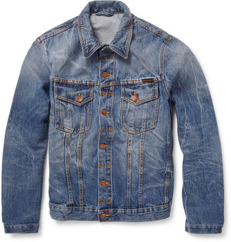 Nudie Jeans Slim-Fit Washed-Denim Jacket