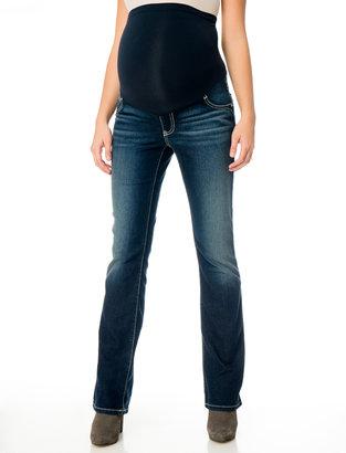 Motherhood Indigo Blue Premium Secret Fit Belly® 5 Pocket Slim Boot Maternity Jeans