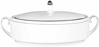Vera Wang Wedgwood Dinnerware, Blanc sur Blanc Covered Vegetable Bowl