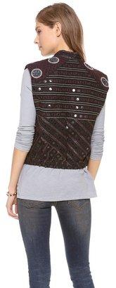 Maison Scotch Embellished Vest