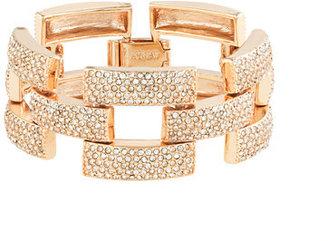 J.Crew Square pavé link bracelet