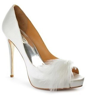 Badgley Mischka Women's Ginnie Peep-Toe Pump
