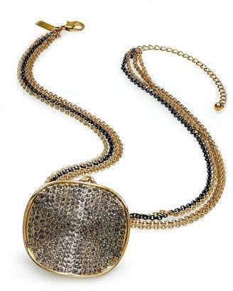 INC International Concepts Necklace, Multi-Tone Glass Pendant