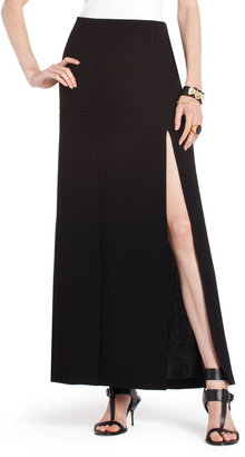 BCBGMAXAZRIA Bentley Double-Slit Maxi Skirt