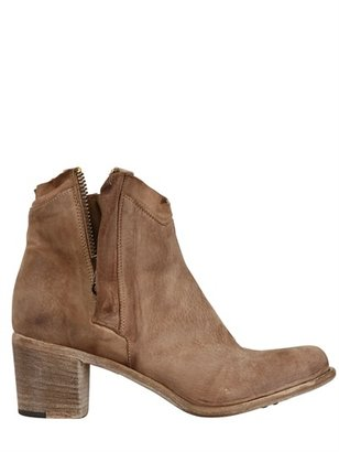 Nylo 65mm Nabuck Zipped Low Boots