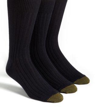 Gold Toe 3-Pack Windsor Wool-Blend Dress Socks