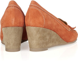 A.P.C. Suede moccasin wedges