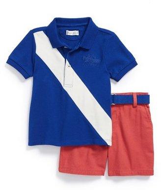 Ralph Lauren Stripe Polo & Shorts (Baby Boys)