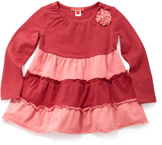 One Kid Two-Tone Tiered Top, Berry/Coral
