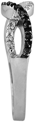 Sterling Silver 1/4-ct. T.W. Black & White Diamond Infinity Ring