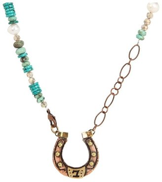 Gypsy SOULE Horseshoe Necklace (Copper/Turquoise) - Jewelry