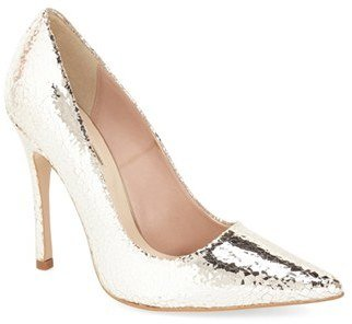 Topshop 'Gallop' Patent Pointy Toe Pump (Women)
