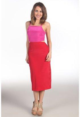 Mara Hoffman Cut-Out Mid Calf Dress (Red) - Apparel