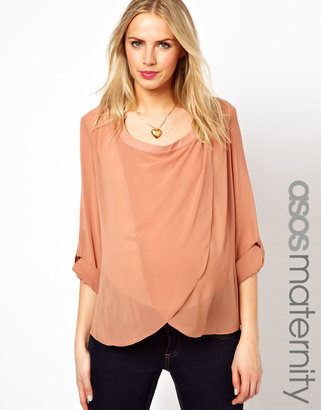 Asos Blouse with Drop Collar and Detail Front
