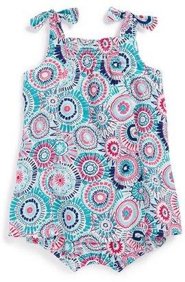 Tea Collection 'Sea Anemone' Shoulder Tie Sundress Bodysuit (Baby Girls)