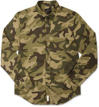 Ecko Unlimited Shirt, The Crockett Long Sleeve Camo Shirt