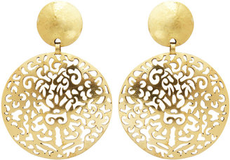 Josie Natori Gold Round Earrings Style V11255