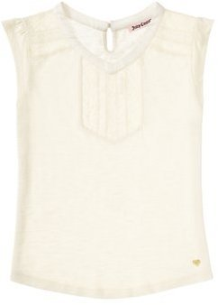 Juicy Couture Girls Lace Inset Knit Top