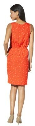Merona Women's Polka Dot Sleeveless Dress -Flame Red